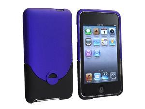 2Tone Rubberized HARD CASE Compatible With Apple® iPod touch ITOUCH 2nd 3rd GEN 2G/3G 8GB, 16GB, 32GB, 64GB (Blue + Black)