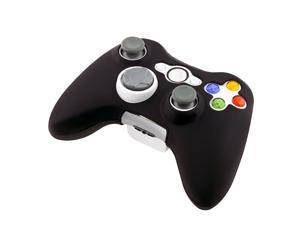 2X Black Rubber Silicone Gel Skin Case Cover For Xbox 360 Slim Controller