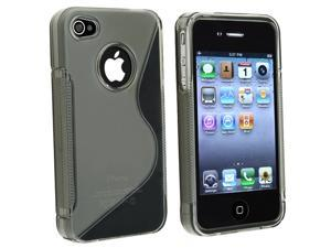 Apple AT/VER iPhone 4 TPU Case , Clear Smoke S Shape