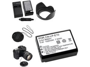 6 Item For Canon Rebel T3 EOS 1100D X50 LP-E10 Battery