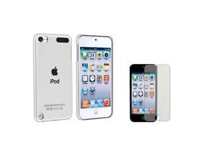 eForCity Clear Rear Snap-on Crystal Case + 2X Colorful Diamond Screen Protector Bundle Compatible With Apple® iPod Touch ...