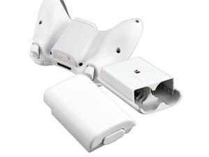 Wireless Controller Battery Pack Shell for Microsoft Xbox 360, White
