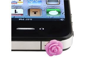 eForCity 3X Universal Headset Dust Cap Compatible With Apple® iPhone /iPod , Purple Rose