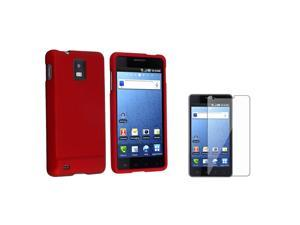 Red Hard Case+Screen Protector compatible with Samsung© Infuse 4G