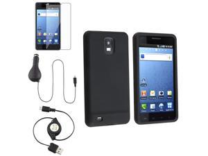 compatible with Samsung© Infuse 4G i997 Silicone Case+Charger+SP+USB