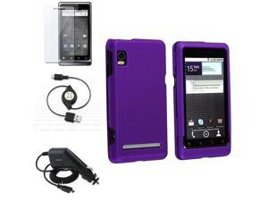 compatible with Motorola Droid 2 Global Case+Insten USB+Charger+LCD