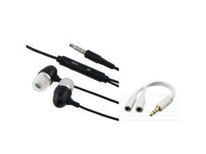 In-Ear Headphone+INSTEN Splitter compatible with iPhone® iPod nano® 4