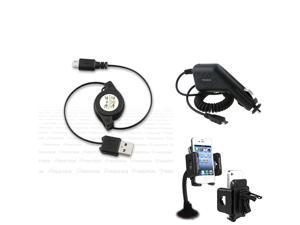 Charger+INSTEN USB compatible with Motorola Droid 2 Global Atrix 4G
