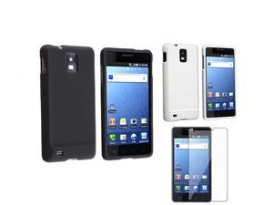 2 Rubberized Hard Cover Bundle compatible with Samsung© Infuse 4G + Screen Protector