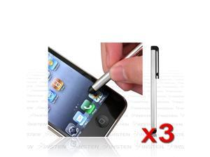 3x Silver Touch Screen Stylus compatible with Samsung Galaxy Tab Tab2 7 P1000 P6200 P3110