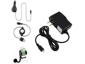 Car+AC Charger+USB Cable+Insten Mount Holder compatible with HTC Amaze Radar EVO Design 4G