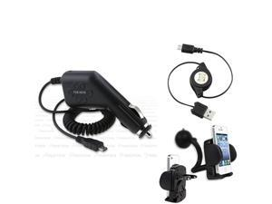 Compatible With HTC Droid Incredible Thunderbolt Charger+Mount+USB