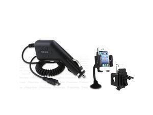 Insten Car Mount+Charger compatible with Samsung© Intercept Epic 4G