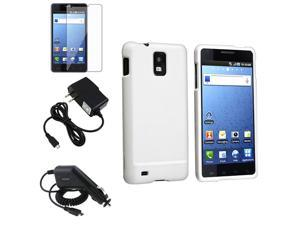 White Case+SP+Car+AC Charger compatible with Samsung© Infuse 4G i997