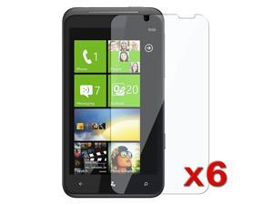6X Premium Clear LCD Screen Protector Guard Film Cover compatible with HTC Titan/Eternity
