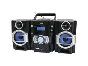 Naxa Npb429 Portable Cd/Mp3 Player With Pll Fm Radio, Detachable Speakers & Remote