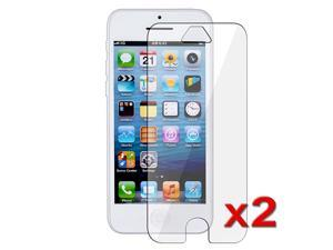 eForCity 2 packs of Reusable Screen Protectors compatible with Apple iPhone 5 5S 5C