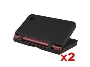 2-Pack Black Soft Silicone Skin For Nintendo Dsi Ll