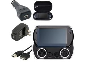 eForCity For Sony PSP Go Black Bag Cover+Data Cable+Wall Charger