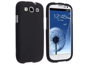 Samsung Galaxy S III i9300 Clip-on Rubber Case , Black
