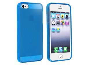 eForCity iPhone 5 / 5S  Case Cover - TPU Rubber Skin Case For Apple iPhone 5 / 5S , Clear Blue