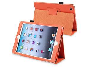 eForCity Leather Case Cover with Stand Compatible with Apple iPad Mini / iPad mini with Retina display (iPad Mini 2), Orange