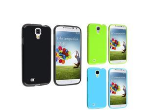 eForCity 3 packs of Flexible TPU Rubber Skin Cover Cases : Black Jelly / Blue Jelly / Light Green Jelly Compatible With Samsung© ...