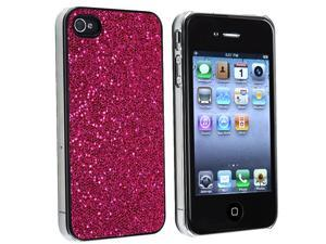 eForCity Snap-on Case compatible with Apple® iPhone 4S Verizon / AT&T, Hot Pink Bling