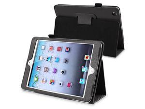 eForCity Leather Case Cover with Stand Compatible with Apple iPad Mini / iPad mini with Retina display (iPad Mini 2), Black
