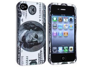 eForCity Snap-On Rubber Coated Case Compatible With Apple iPhone 4 / 4S, Hundred Dollar