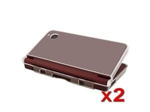 2 Pack Clear Crystal Hard Case For Nintendo Dsi Ll