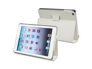 eForCity Leather Case with Stand Compatible with Apple iPad Mini / iPad mini with Retina display (iPad Mini 2), White