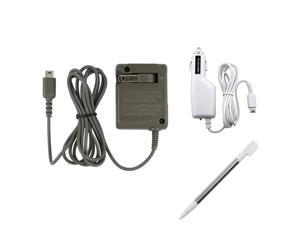 Charger Set + Retractable Touch Pen Stylus for DS LITE