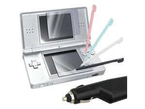 Stylus+Screen Pro+Car Charger For Nintendo DSL DS Lite
