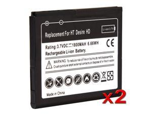 2 x 1800 mAh Li-Ion Standard Battery For HTC Inspire 4G