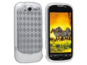 TPU Rubber Skin Case compatible with HTC T-Mobile myTouch 4G, Clear Argyle