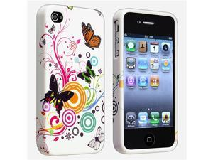 Apple AT/VER iPhone 4 TPU Case , Wht Autmn Flwr w/ Butterfly