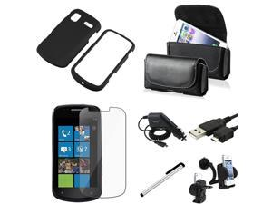 7x Accessory Bundle Hard Case Charger compatible with Samsung© Focus