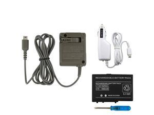 Wall+Car Charger+Battery For Nintendo DS LITE NDSL DSL