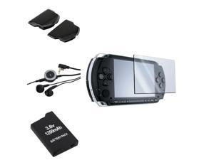 eForCity Headset With Remote+Battery+Slim+Extended Door+Film For Sony PSP Slim 2000 3000