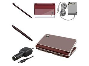 For Nintendo DSi XL/LL 2 Charger + 2 Stylus + LCD + Hard Case