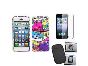 eForCity Film + Mat + compatible witheign Building Printed Design Hard Case compatible with Apple® iPhone 5 5G 5th iOS 6