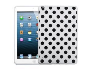 MYBAT White Black Polka Dots Tpu Soft Cover Case Compatible With Apple® iPad Mini/iPad mini with Retina display (iPad Mini ...