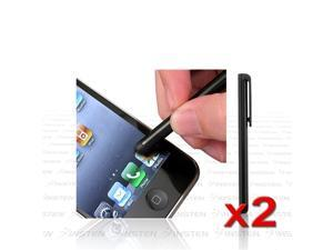 eForCity A65 2x  Black Tip Stylus Screen Touch Pen compatible with Asus Google Nexus 7 Tablet