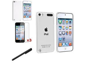 eForCity Clear+White Crystal Hard Case Cover+Protector+Stylus For Apple® iPod Touch 5 5G 5th Gen