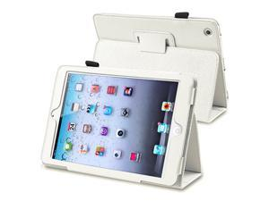 eForCity Leather Case Cover with Stand Compatible with Apple iPad Mini / iPad mini with Retina display (iPad Mini 2), White