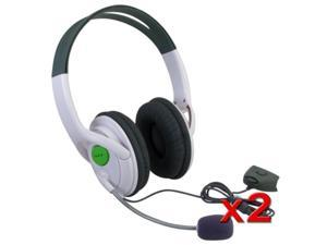 eForCity 2-Pack Live Headset Headphone With Microphone for XBOX 360 Slim