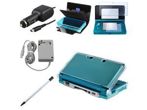 For Nintendo 3DS Leather Case Guard Charger+Accessories