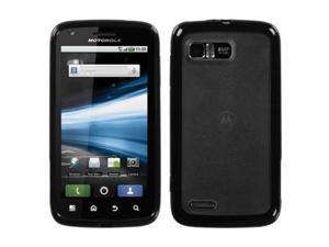 MYBAT Transparent Smoke/Solid Black Gummy Cover for MOTOROLA MB865 (Atrix 2)