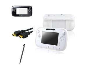 eForCity White Gamepad Controller Case + Matte LCD Film Guard Protector + Stylus + 6ft HDMI Cable compatible with Nintendo ...